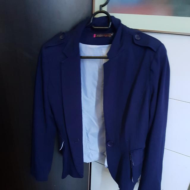 Folio Blazer Navy Blue With Stripe Lining