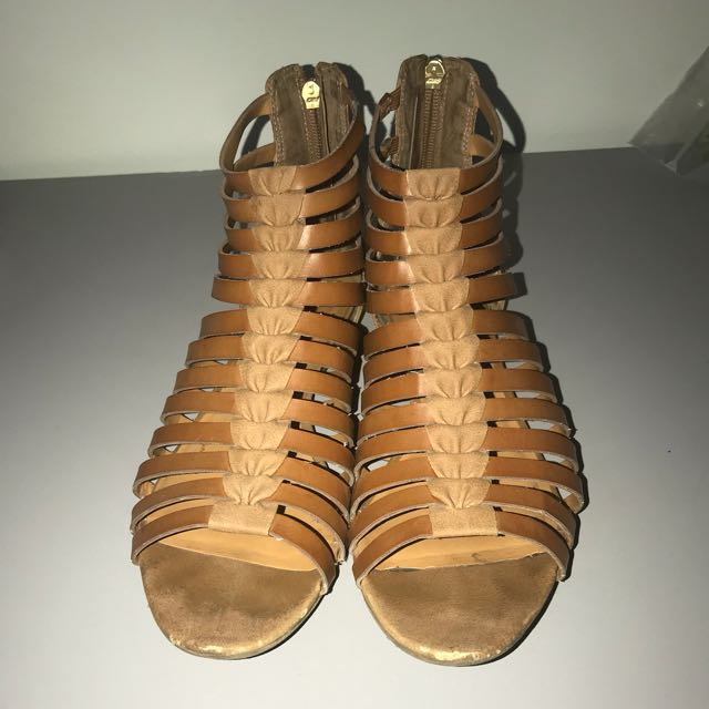 Franco Sarto Strappy Brown Sandals