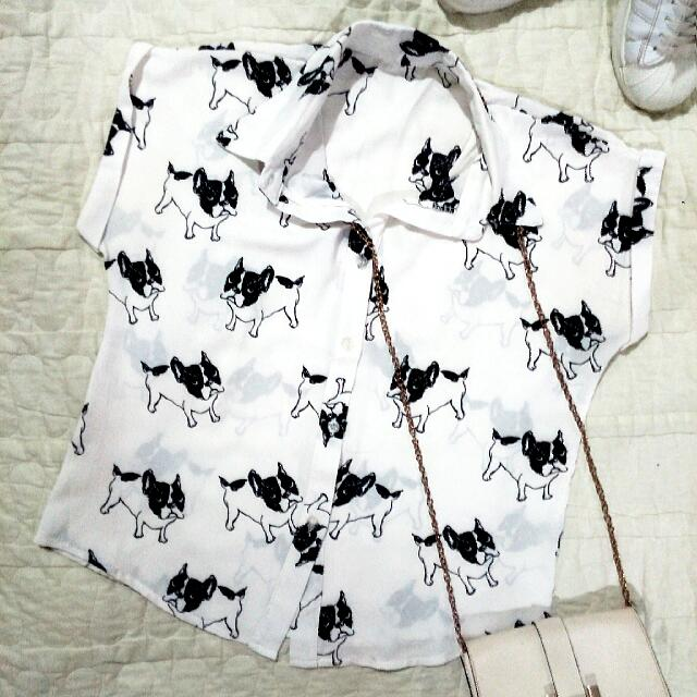 Frenchie Dog Print Outfit