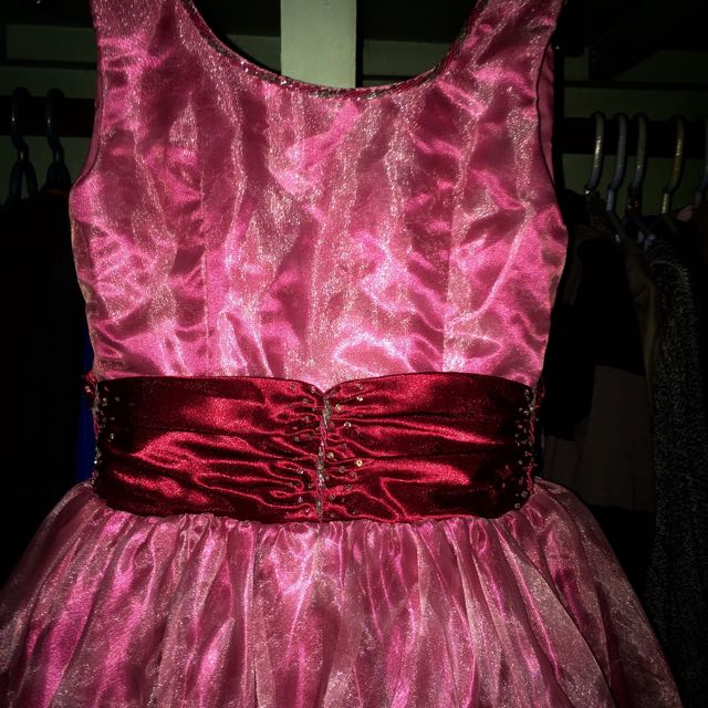 Fuchsia Pink Long Gown