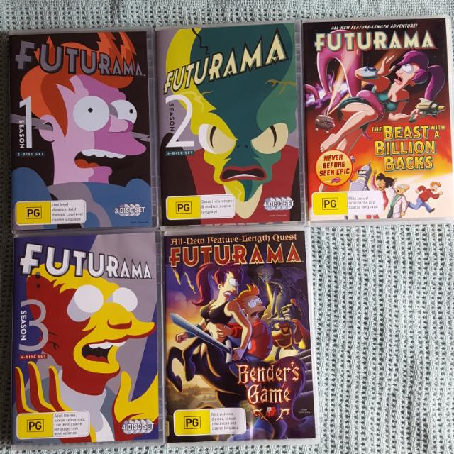 Futurama Seasons 1-3 & Movies