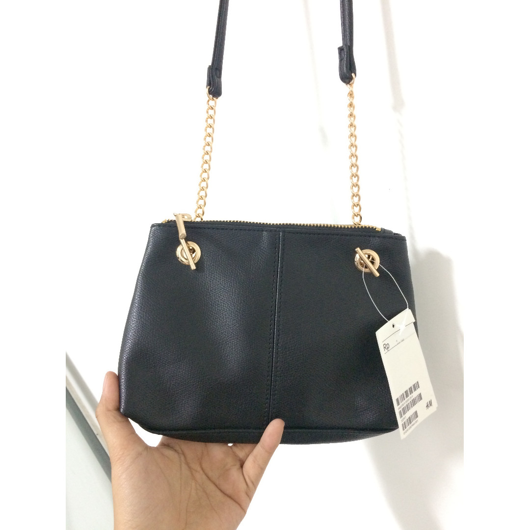 H&M Chain Black Slingbag