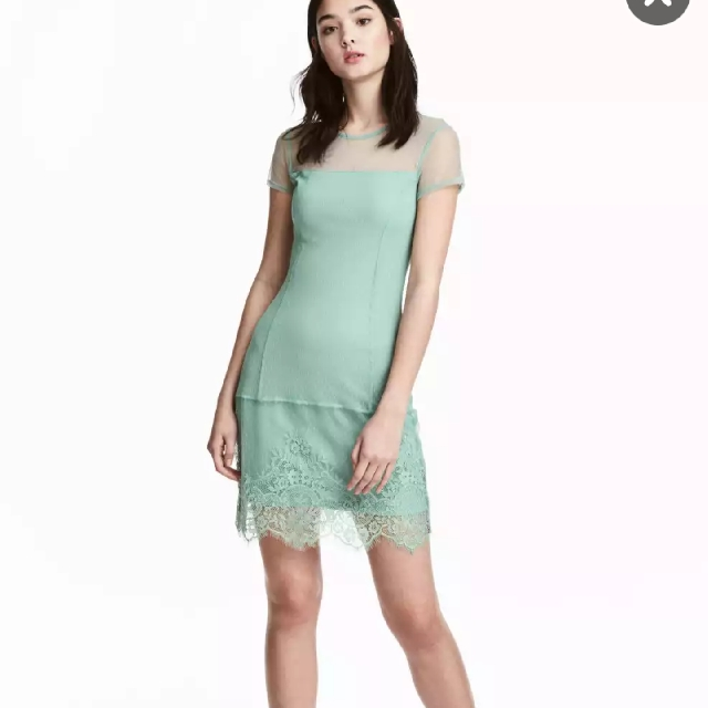 e4d565a8c32d H&M Lace Mesh Dress, Women's Fashion, Clothes, Dresses & Skirts on ...