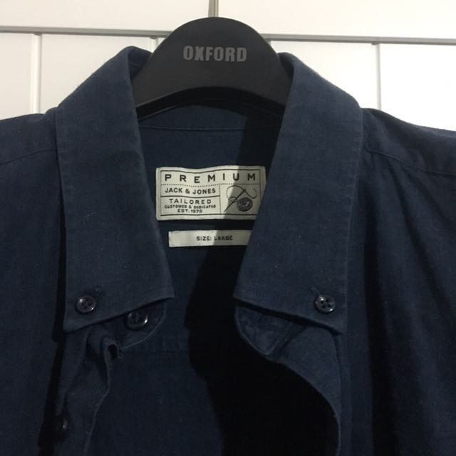 Jack And Jones Large Navy Shirt With Pocket