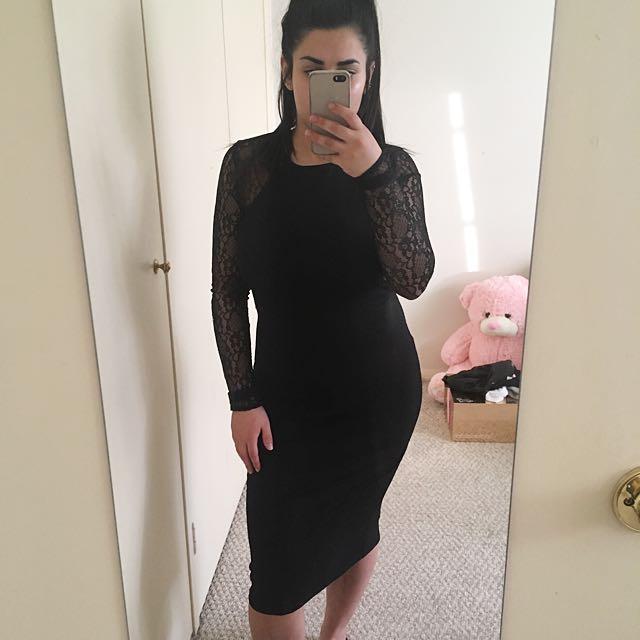 Laced Sleeve Dress