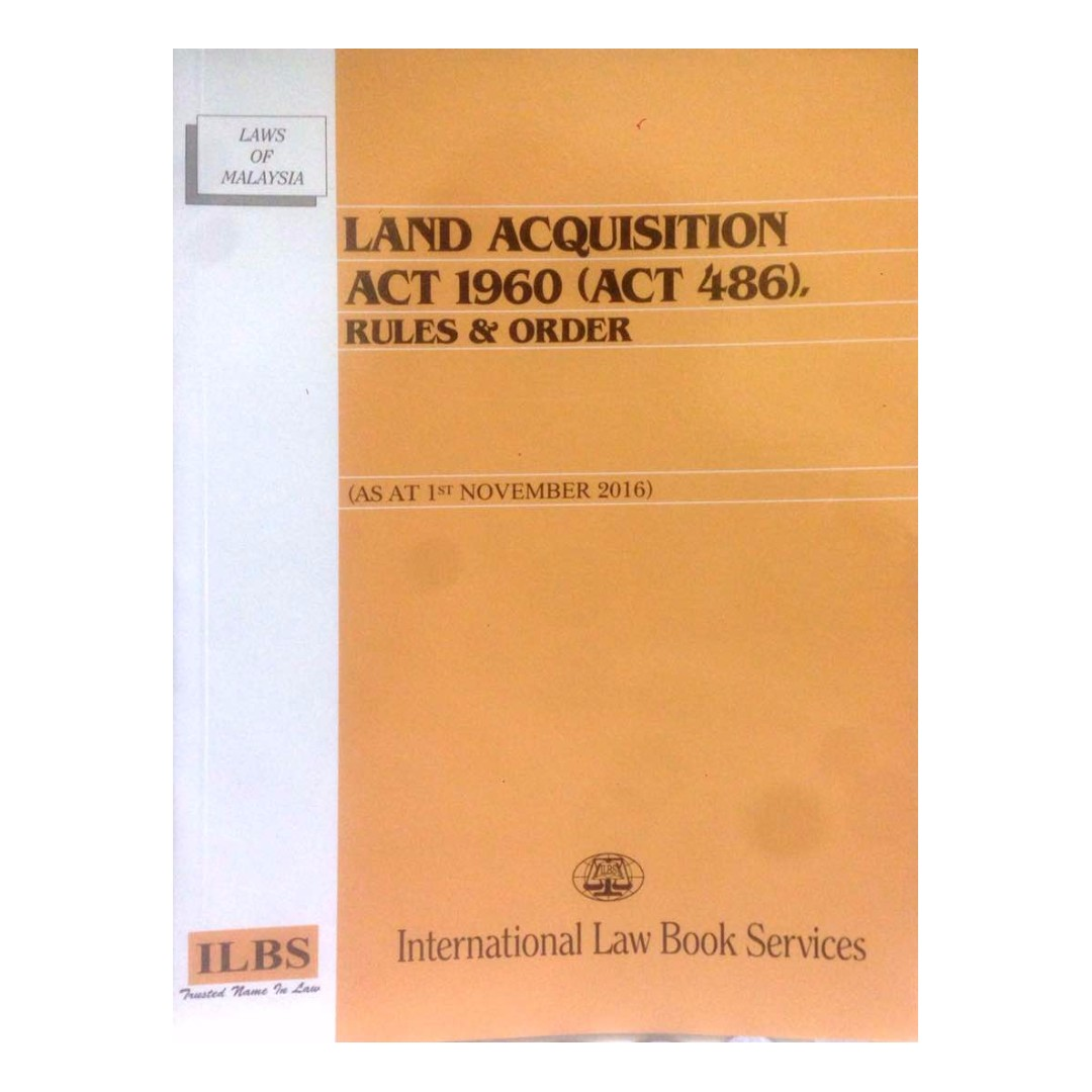 Land Acquisition Act 1960 Act 486 Rules Order Textbooks On Carousell