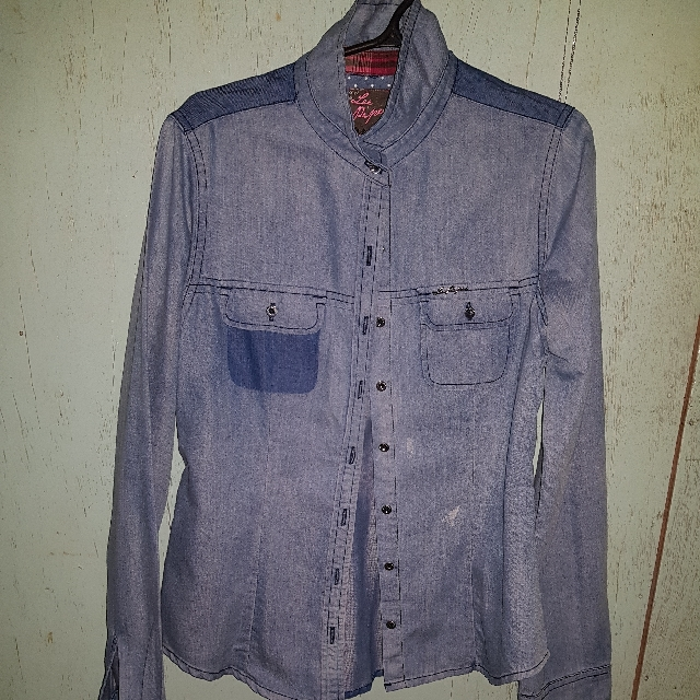 Lee Pipes Denim Polo