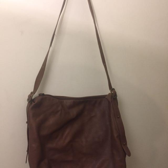 Lightweight Brown Sling Bag
