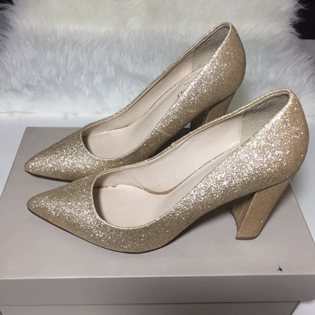 Marks and Spencer Gold Heels size 40