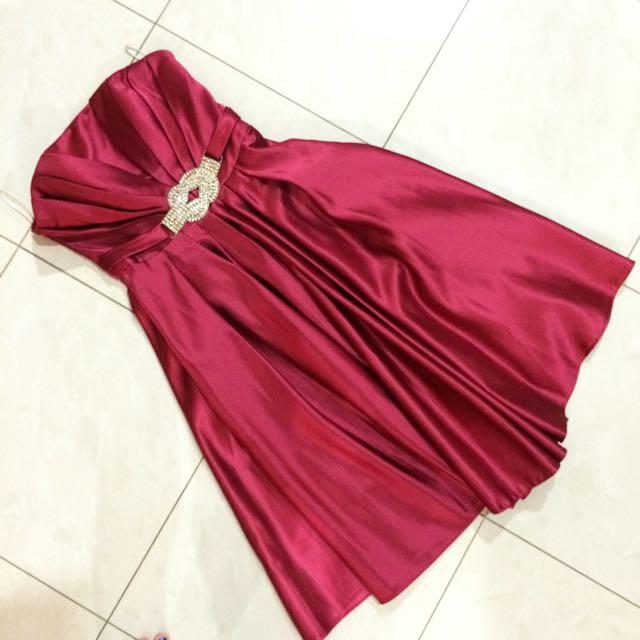 Mini Dress - Gaun Pesta Merah