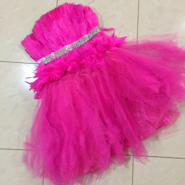 Mini Dress - Gaun Pesta Pink