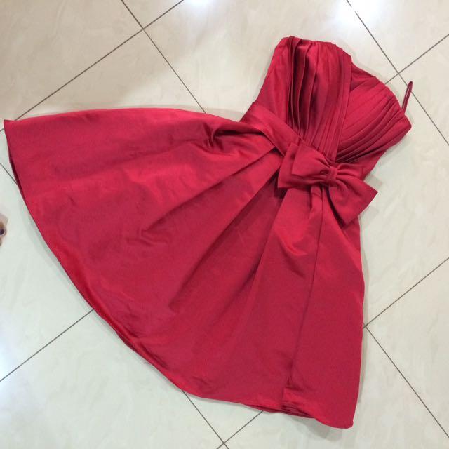 Mini Dress - Gaun Pesta Red