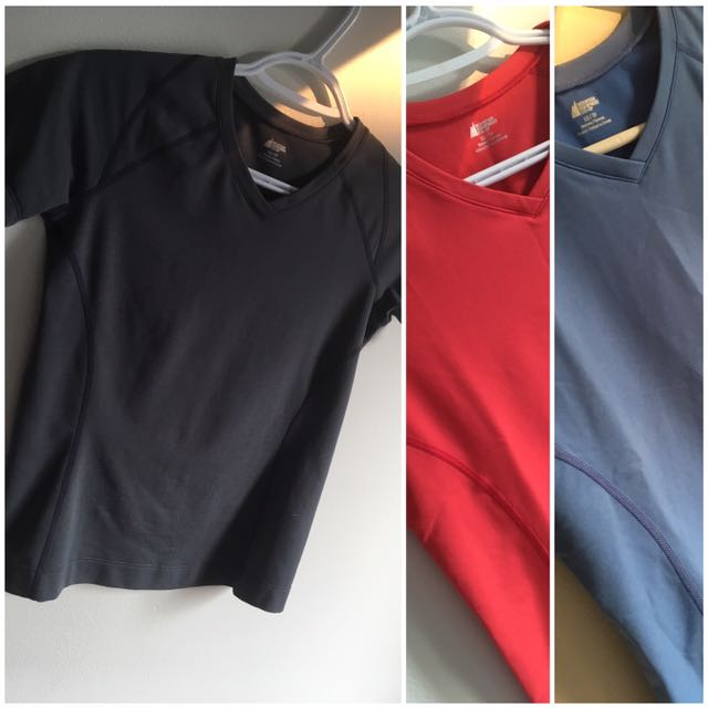 Mountain Equipment CO OP athletic shirts trio