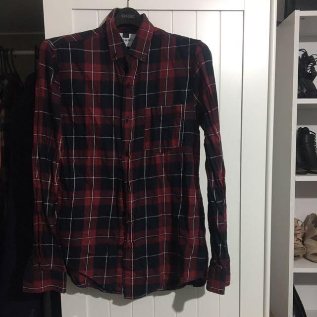 NEW TOPMAN  XS Checkered Shirt