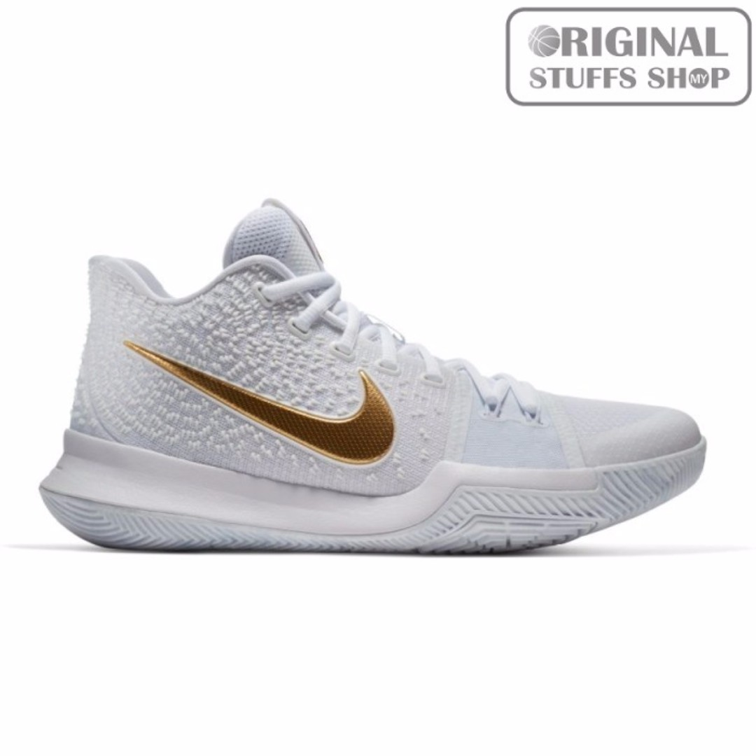 check out 7cf71 fa128 NIKE KYRIE 3 Gold Standard, Sports, Sports Apparel on Carousell