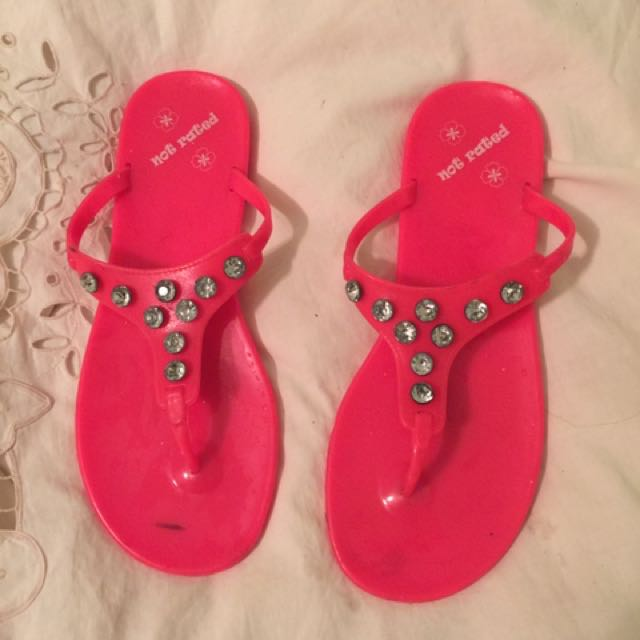 Not Rated Flip Flops Size 8ish