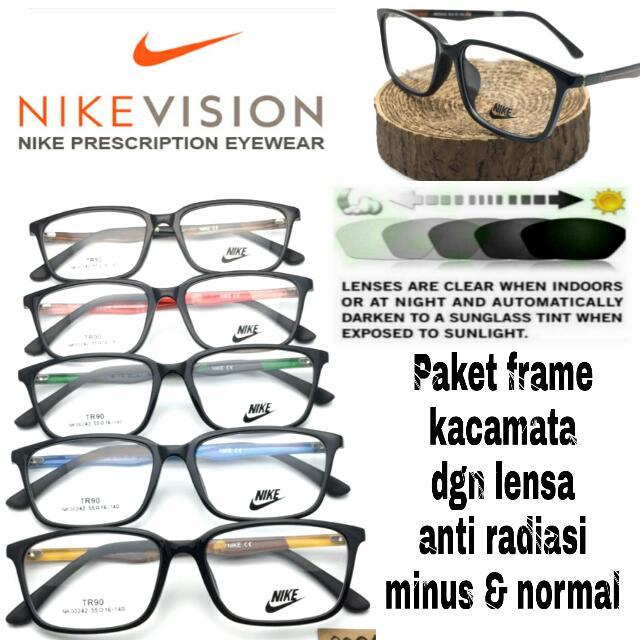 Paket Frame Kacamata Nike Dgn Lensa Anti Radiasi Minus Dan Normal ... 6980d89e19