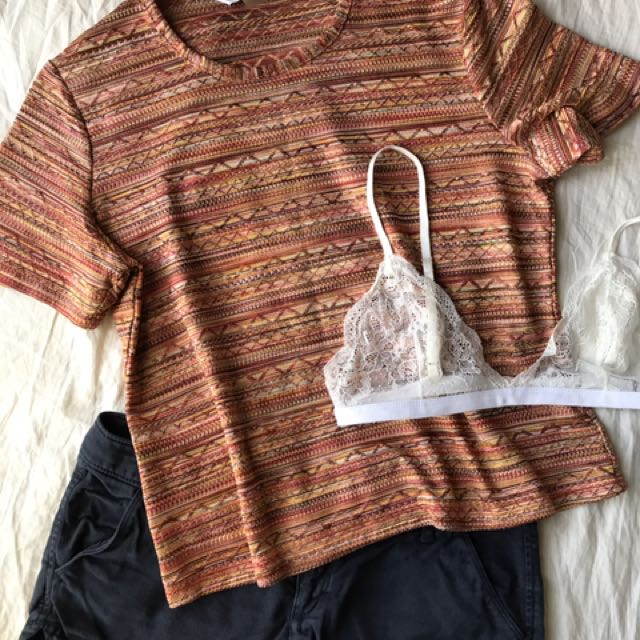 Patterned Tee S