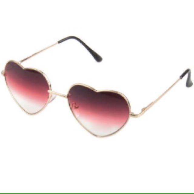 Purple Heart Glasses