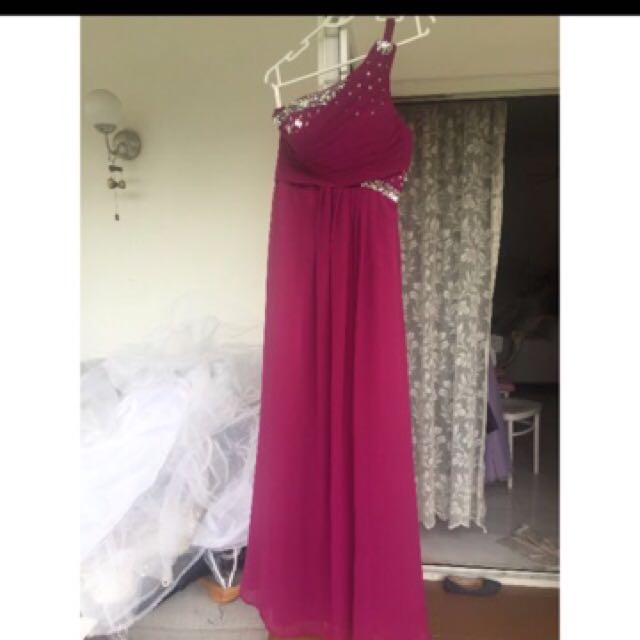 Purple Toga Gown, Women\'s Fashion, Clothes, Dresses & Skirts on ...