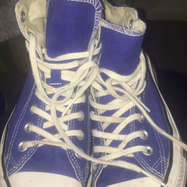 Royal Blue High Top Chuck Taylor's Mens Size US7 Can Fit Women's US9