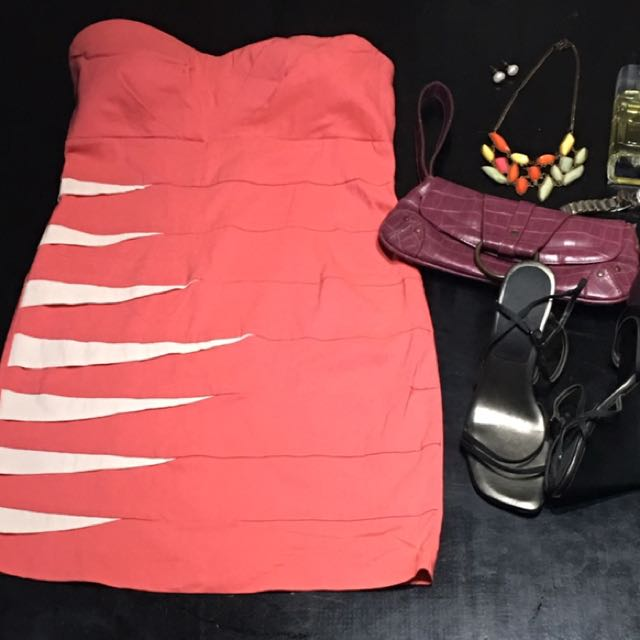 Salmon Tube Dress