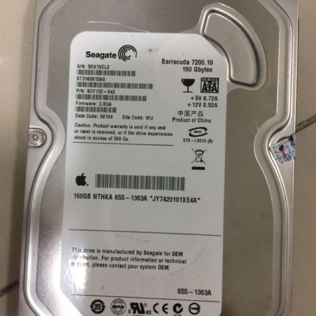 Seagate Hard disk 160gb
