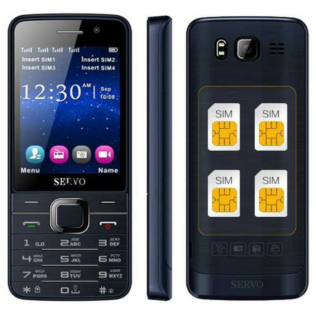 SERVO V9500 Handphone 4 SIM Card