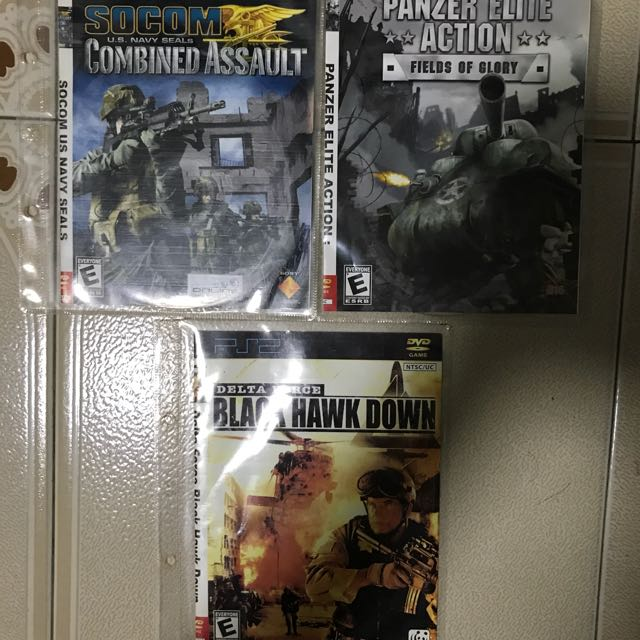 Ps2 Army Warfare special set of 3 - Socom US U S Navy Seals