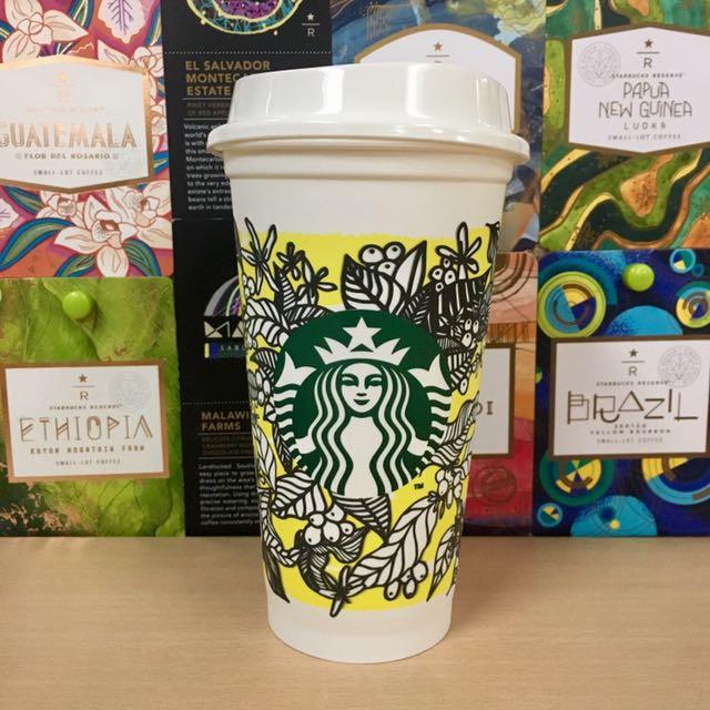 Starbucks yellow Design Reusable Cup