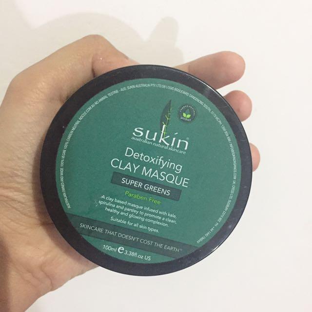 SUKIN Super Greens Detoxifying Clay Mask