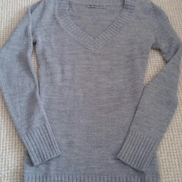 Terranova XS Grey Knit Sweater