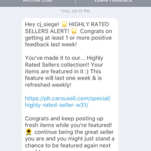 Thank You Carousell😊