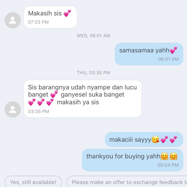 thankyou for buying💕