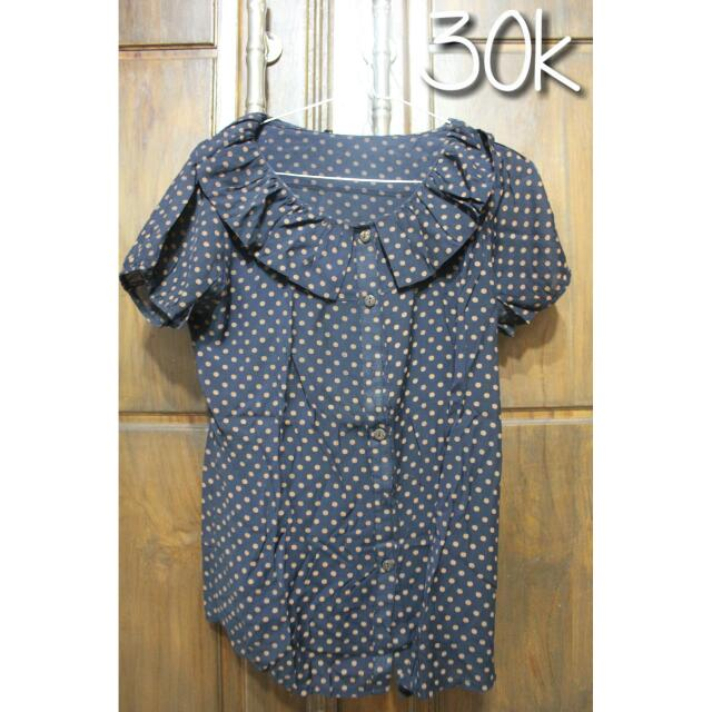 Top Polka Navy