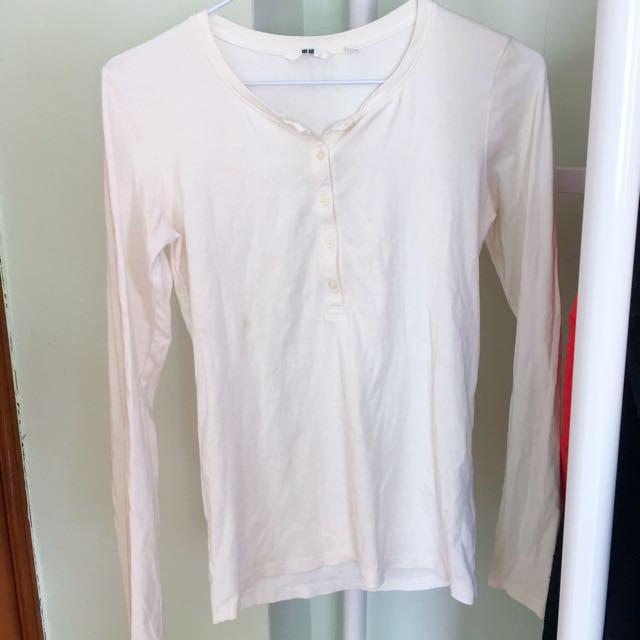 Uniqlo 白色長袖上衣