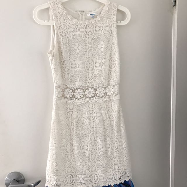 Valley Girl White Lace Dress