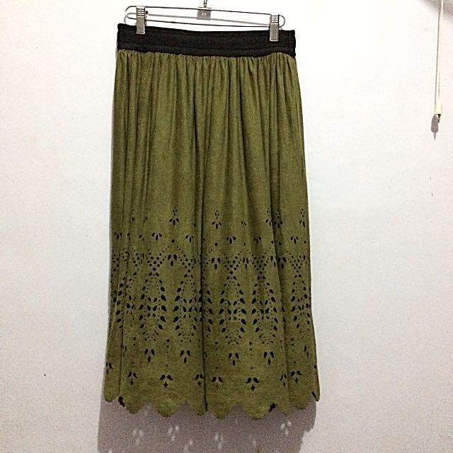 Vero Moda Olive Skirt