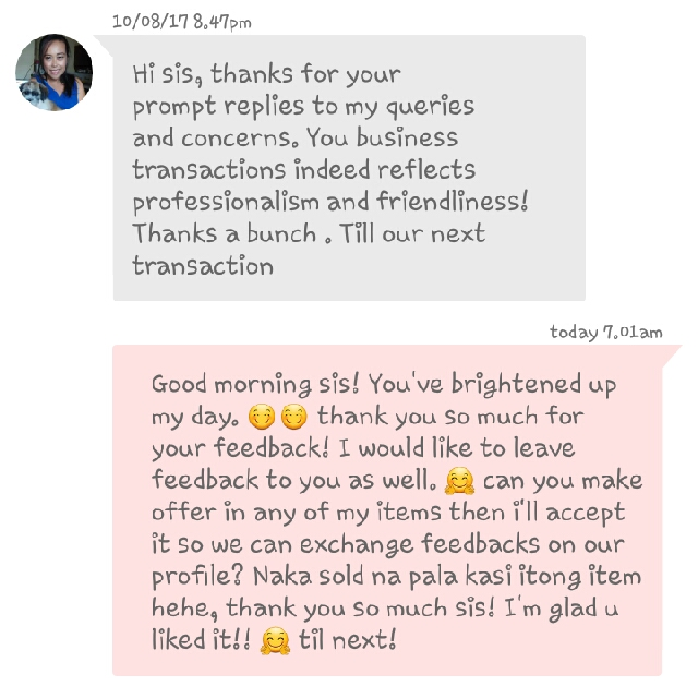 Very Rewarding 🤗 Sarap Po Sa Feeling Na We Help Each Other Here In Carousell 💕💕
