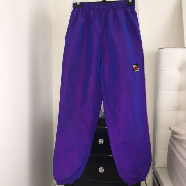 Vintage Purple Surf Style Pants