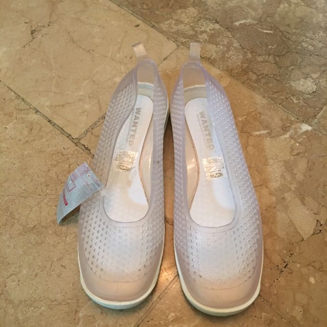 Wanted Transparent Rubber Shoes