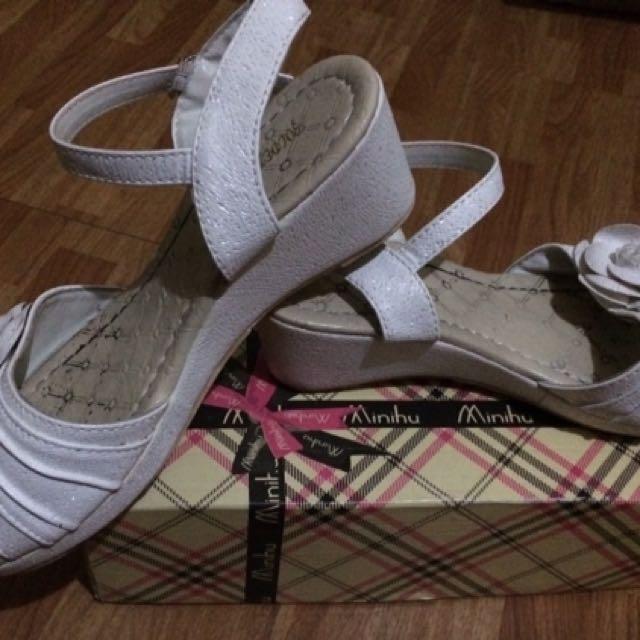 White Sandals 36 (23.5 CM)