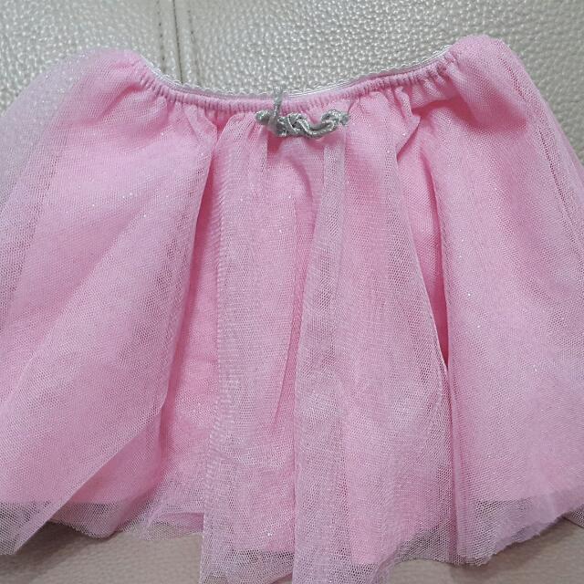 Zara 童裝粉紅紗裙