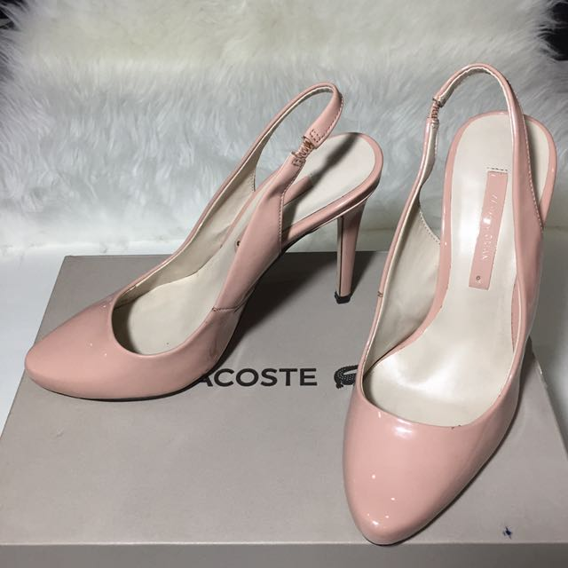 Zara pink nude heels