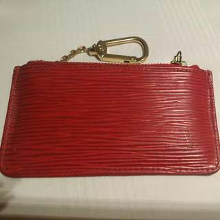 aaaaeeeb26 Louis Vuitton Red Epi Coin Purse