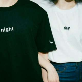 [PO] #015 Tumblr Ulzzang Day And Night Couple Tee