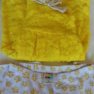 Healthtex Yellow terno set