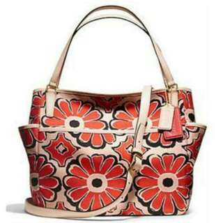 Coach Floral Scarf Print Diapers Bag