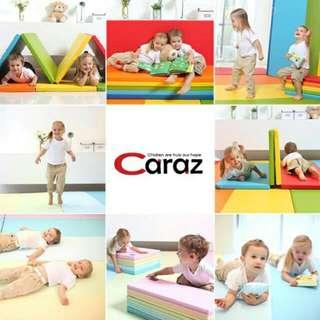 熱銷!!【Caraz】韓國製造直送摺疊地墊 4段 5段4公分厚可愛彩色遊戲墊/贈送防滑墊喔!