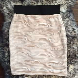 Ruffled Bodycon Skirt